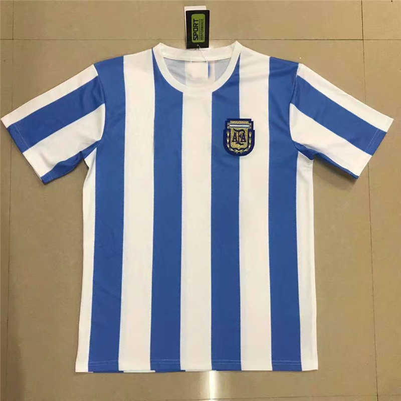 AAA 1986 Argentina Home Soccer Jersey