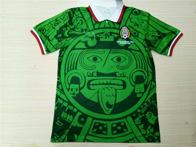 AAA 1998 Mexico Home Soccer Jersey