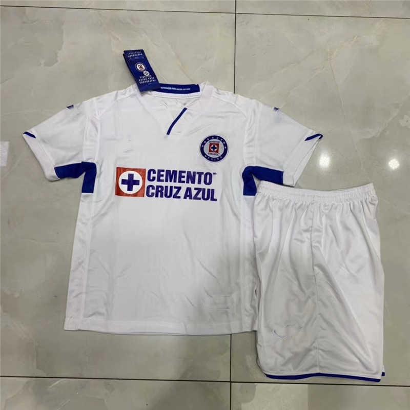 51c7b959907 2019/20 Cruz Azul Away Youth Soccer Jersey [KIDS-AZUL-19ASWW ...