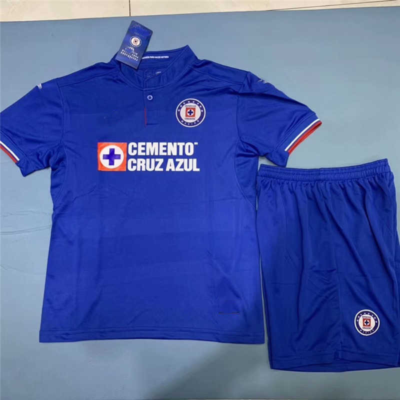 59e53de21d5 2019 20 Cruz Azul Home Youth Soccer Jersey  KIDS-AZUL-19HSBB ...