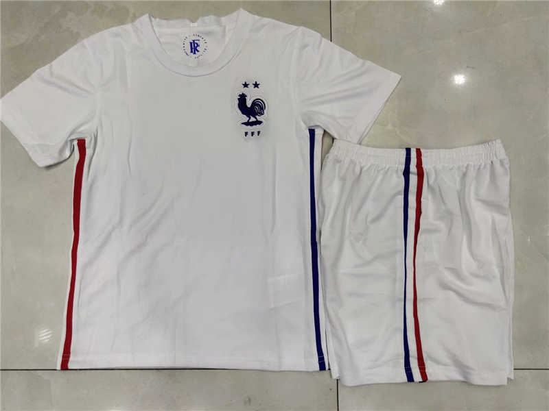 2020 France Away Youth Soccer Jersey