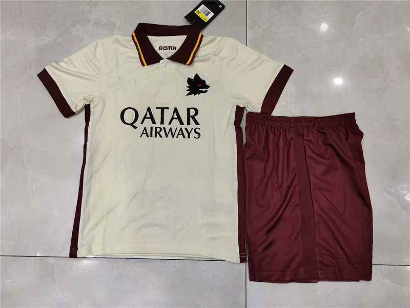2020/21 Roma Away Youth Soccer Jersey