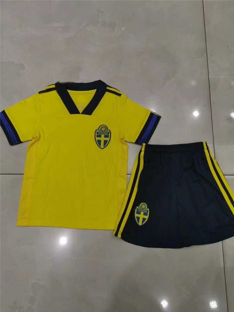 2020 Sweden Home Youth Soccer Jersey